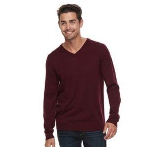 Apt 9 Men's Wool Blend Merino V-Neck Sweater